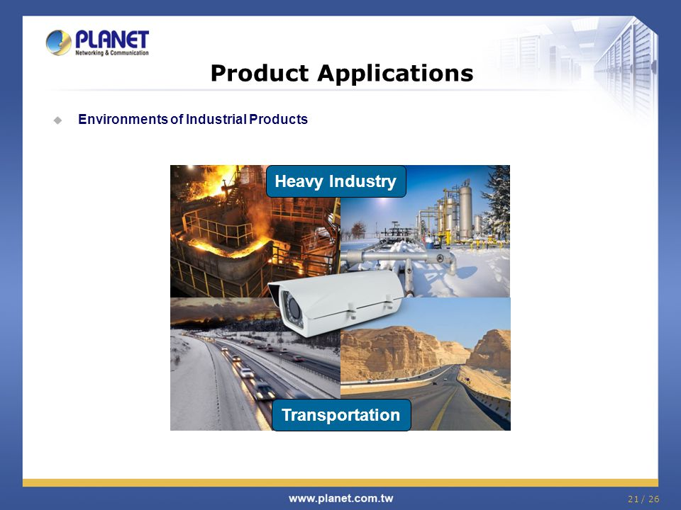 Product Applications Heavy Industry Transportation