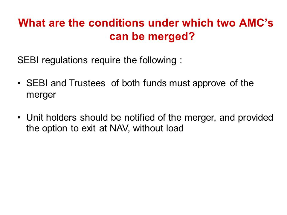 What are the conditions under which two AMC's can be merged