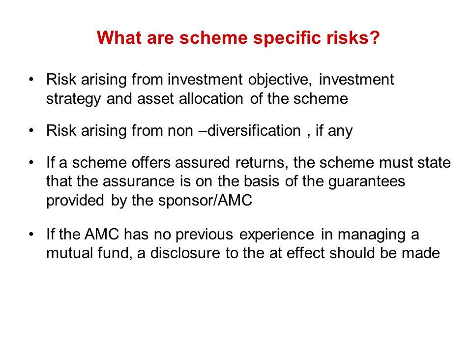 What are scheme specific risks