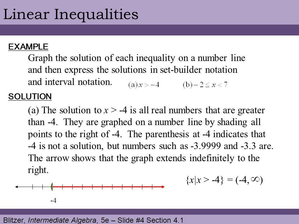 Linear Inequalities EXAMPLE.