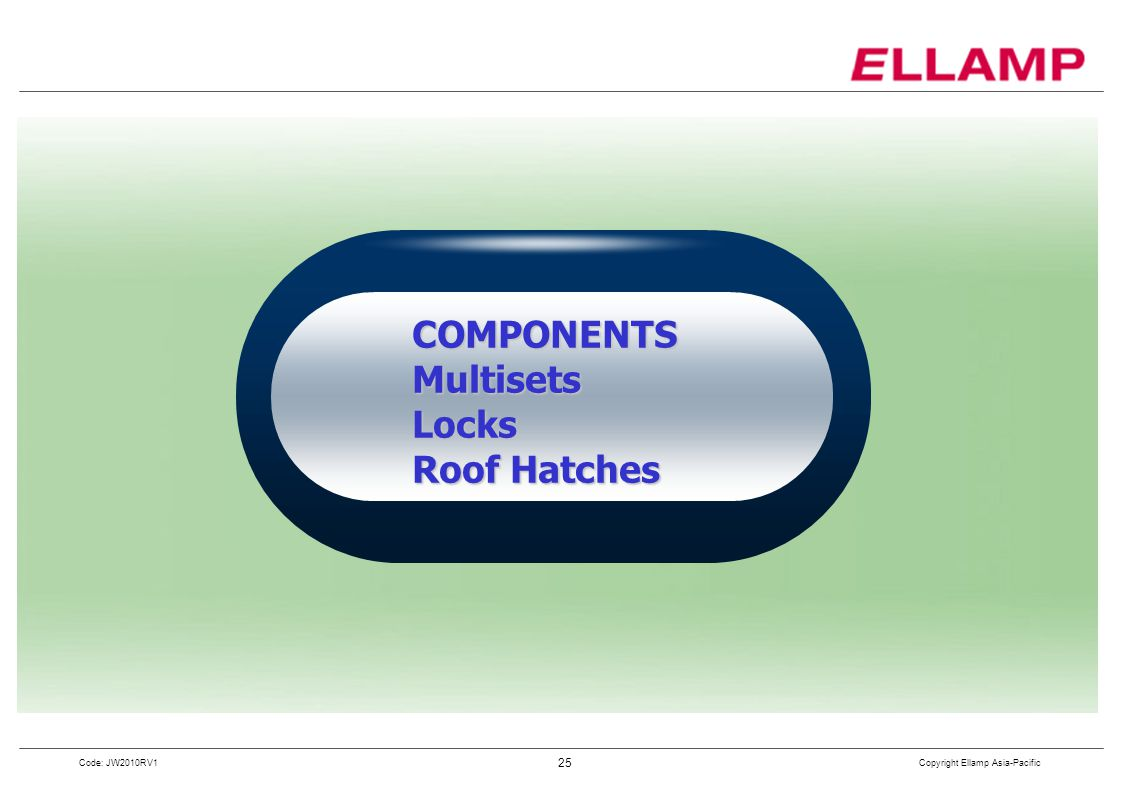 COMPONENTSMultisets Locks Roof Hatches