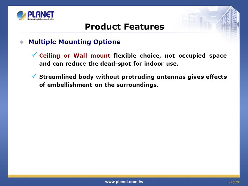 Product Features Multiple Mounting Options