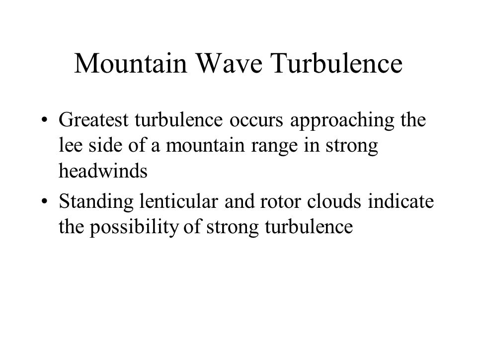 Mountain Wave Turbulence