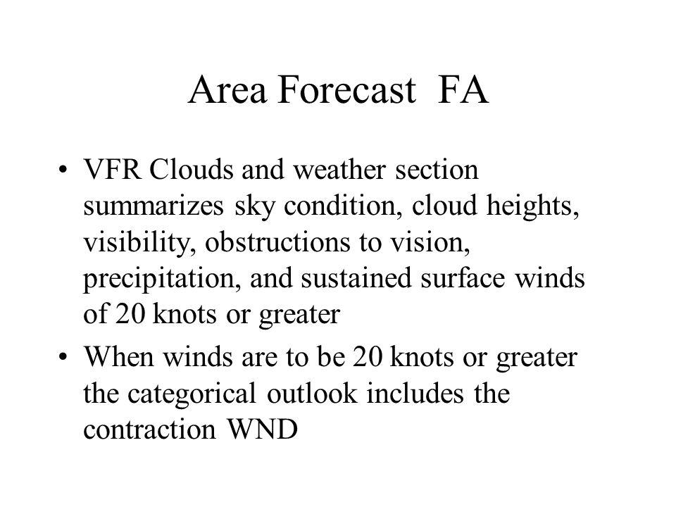 Area Forecast FA