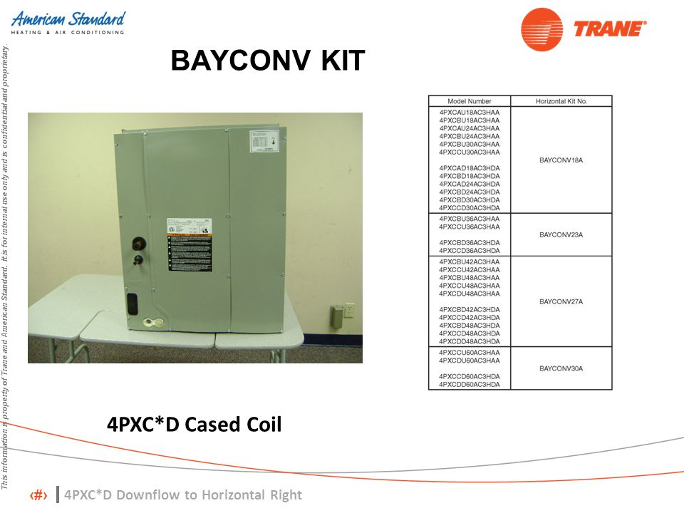BAYCONV KIT 4PXC*D Cased Coil 4PXC*D Downflow to Horizontal Right