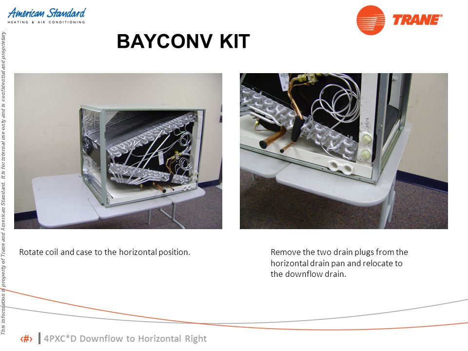 BAYCONV KIT 4PXC*D Downflow to Horizontal Right