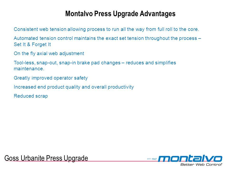 Montalvo Press Upgrade Advantages