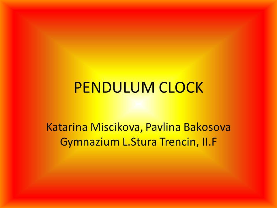 Katarina Miscikova, Pavlina Bakosova Gymnazium L.Stura Trencin, II.F