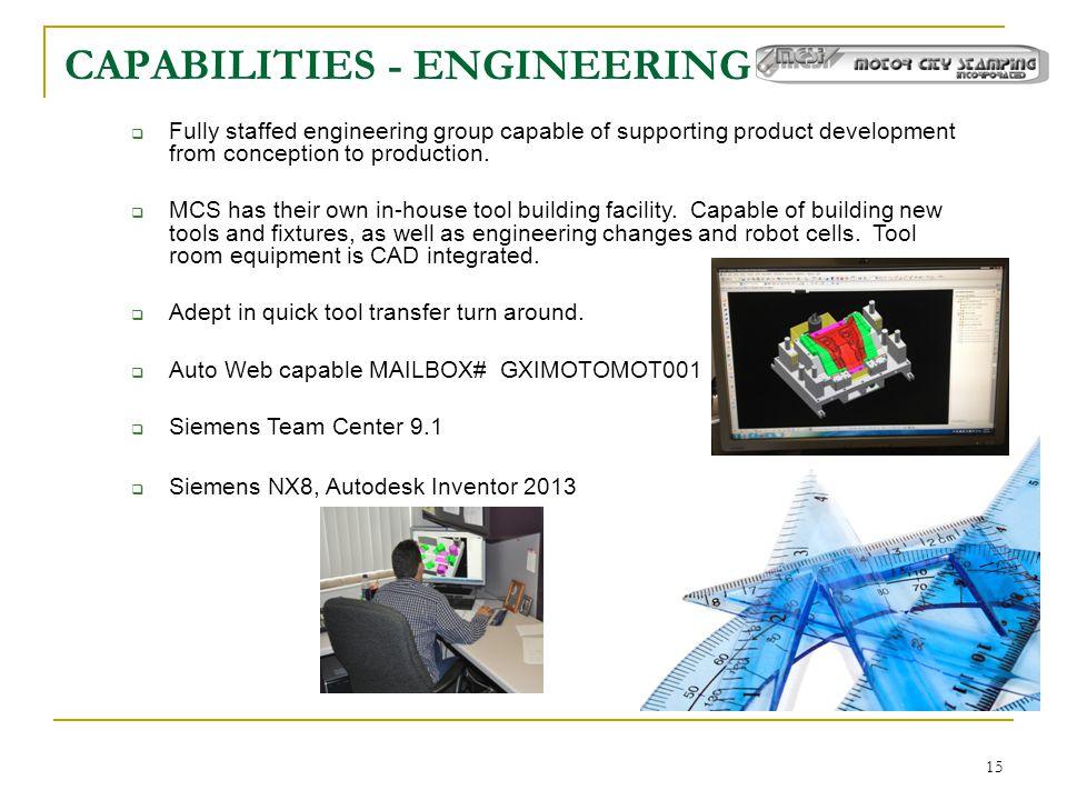 CAPABILITIES - ENGINEERING