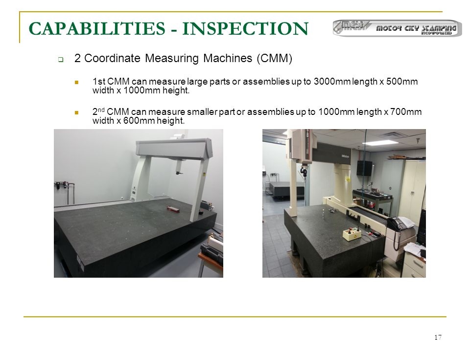 CAPABILITIES - INSPECTION