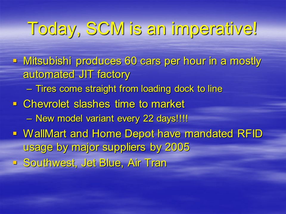 Today, SCM is an imperative!