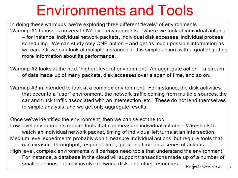 Environments and Tools