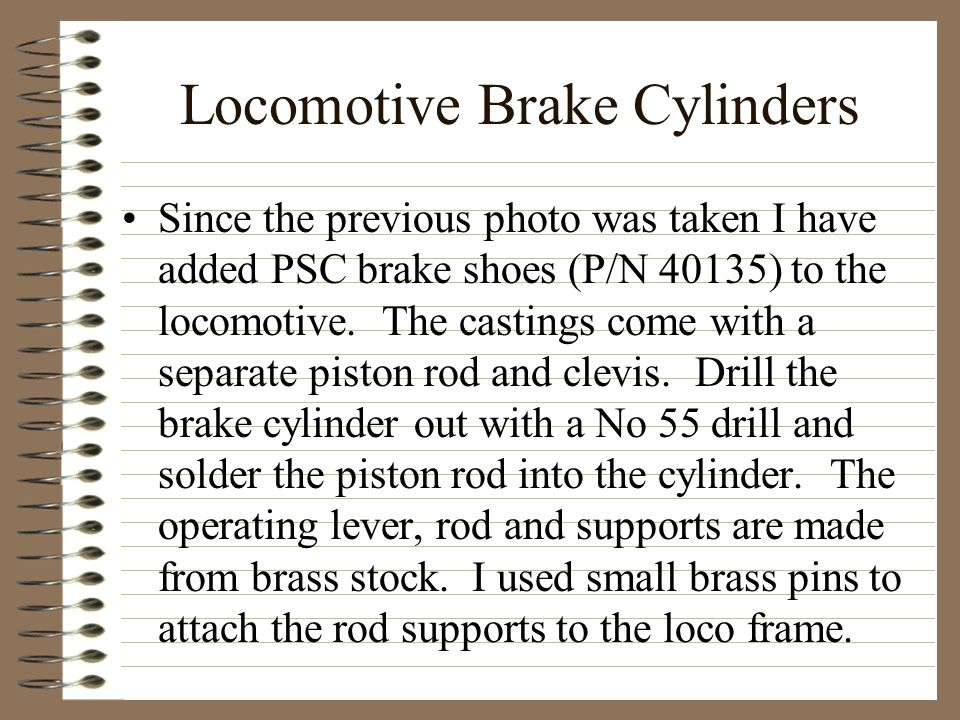 Locomotive Brake Cylinders