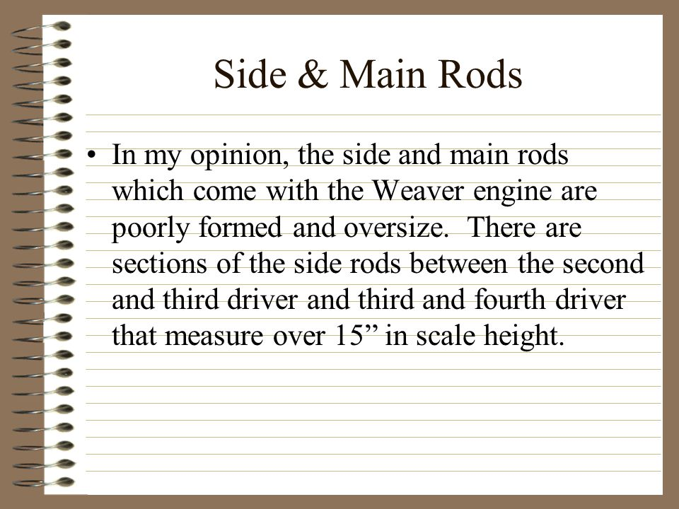 Side & Main Rods