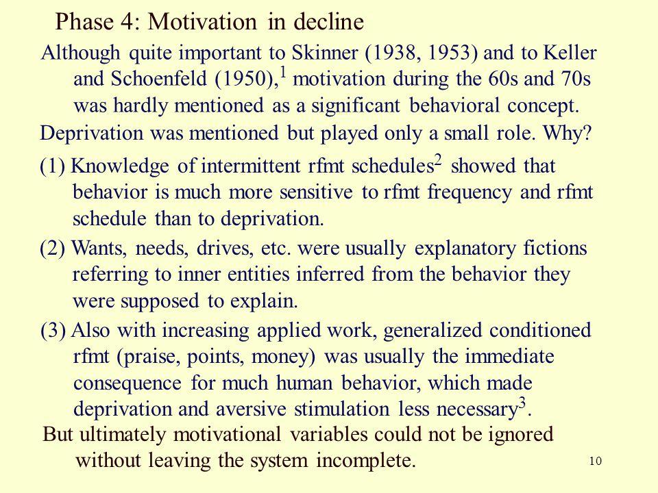 Phase 4: Motivation in decline