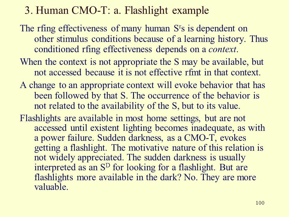 3. Human CMO-T: a. Flashlight example