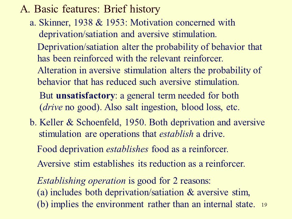 A. Basic features: Brief history