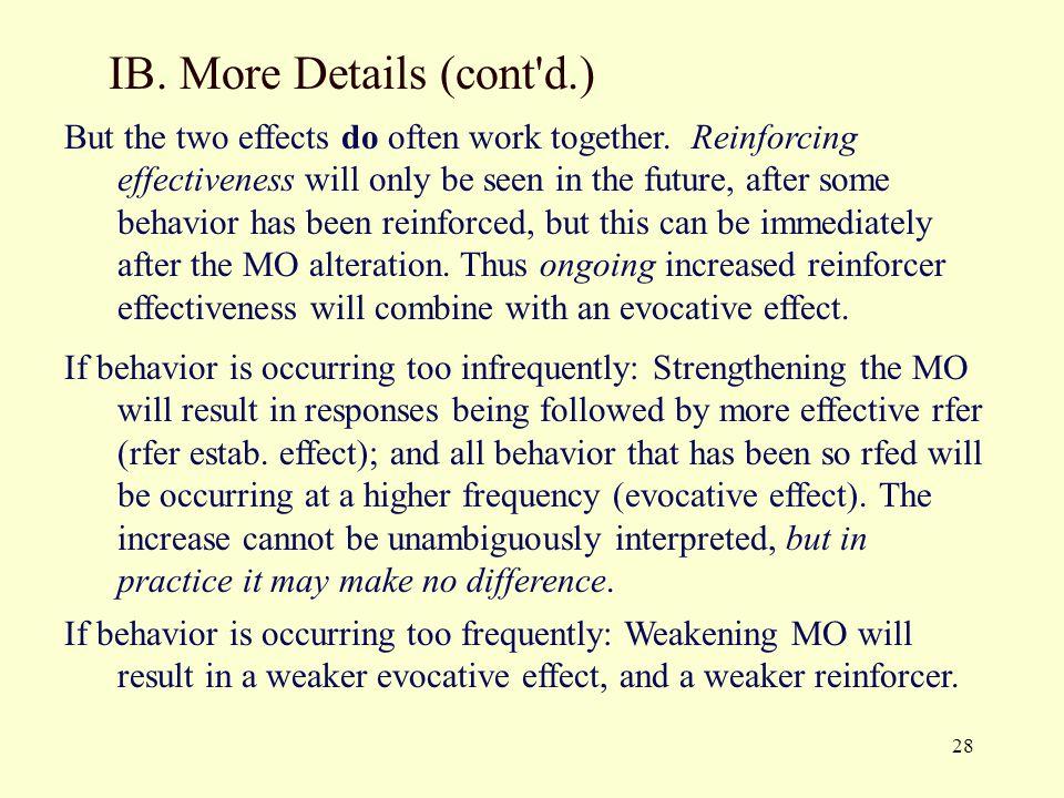 IB. More Details (cont d.)