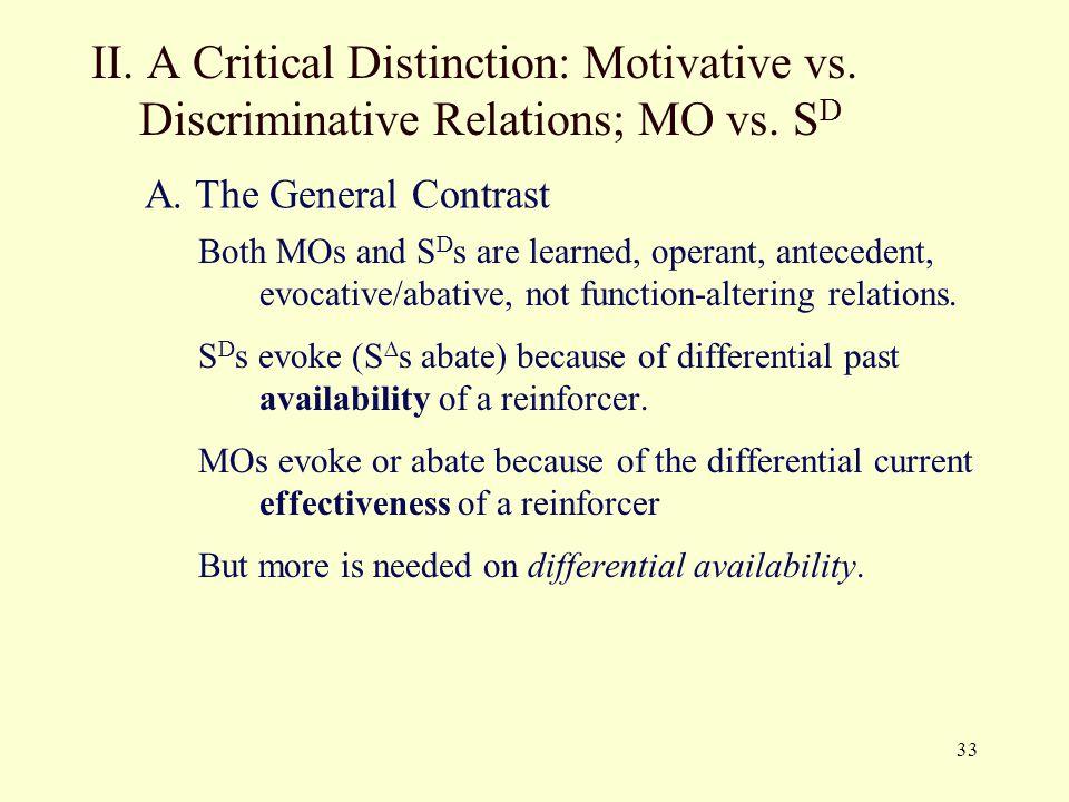 II. A Critical Distinction: Motivative vs