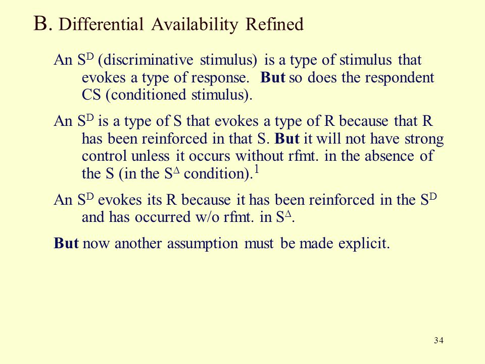 B. Differential Availability Refined