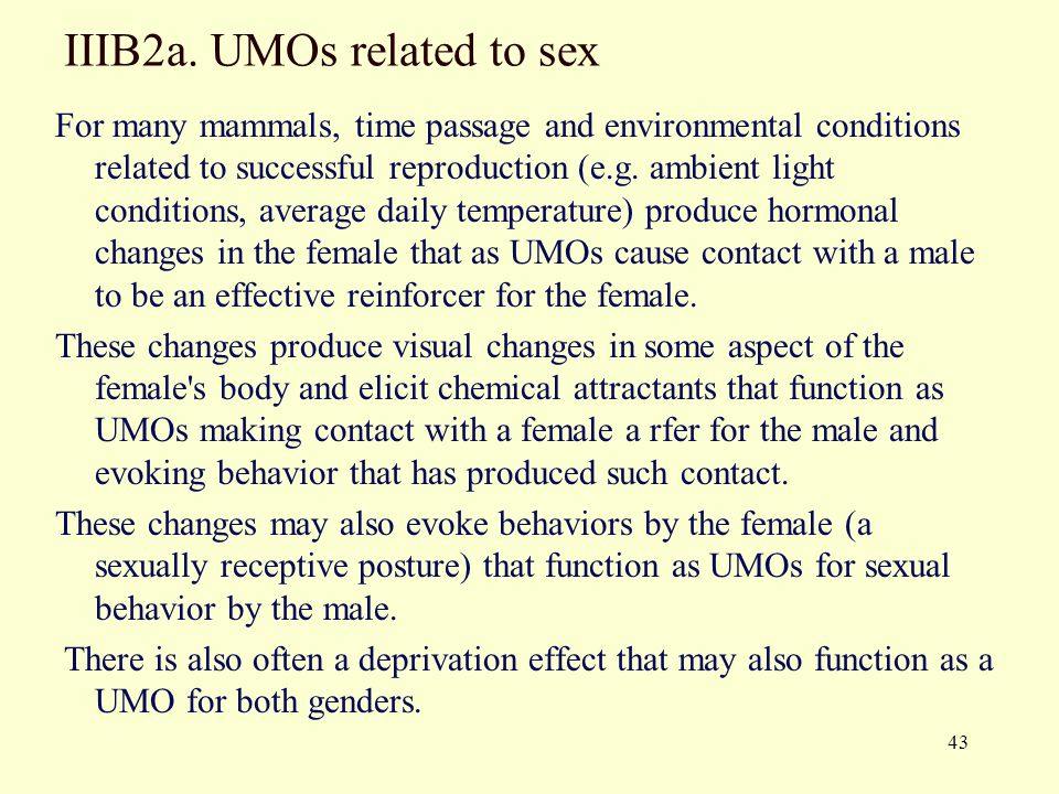 IIIB2a. UMOs related to sex