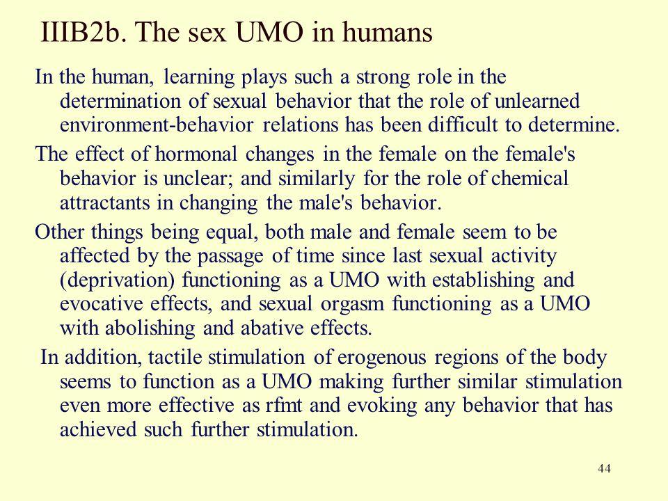 IIIB2b. The sex UMO in humans