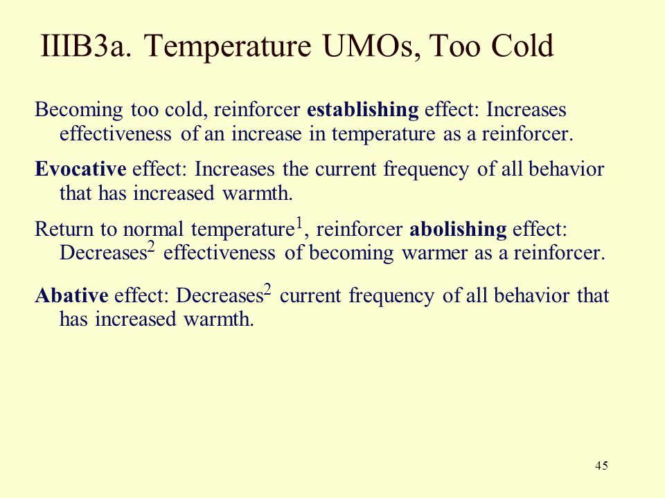 IIIB3a. Temperature UMOs, Too Cold