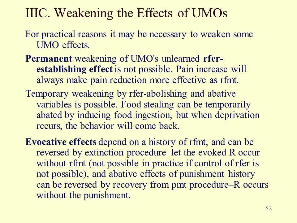 IIIC. Weakening the Effects of UMOs