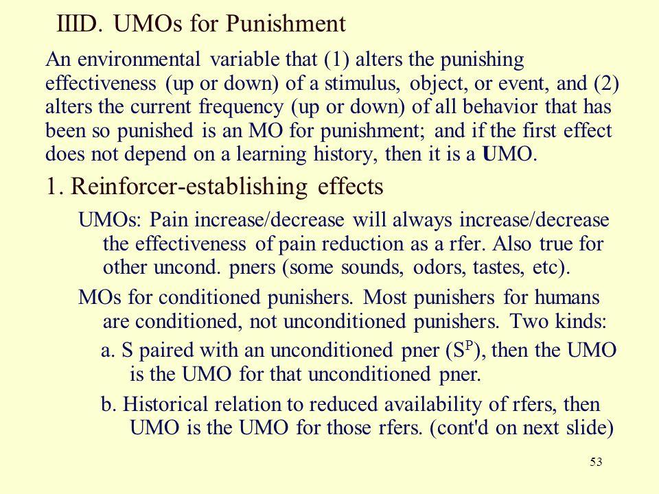 IIID. UMOs for Punishment