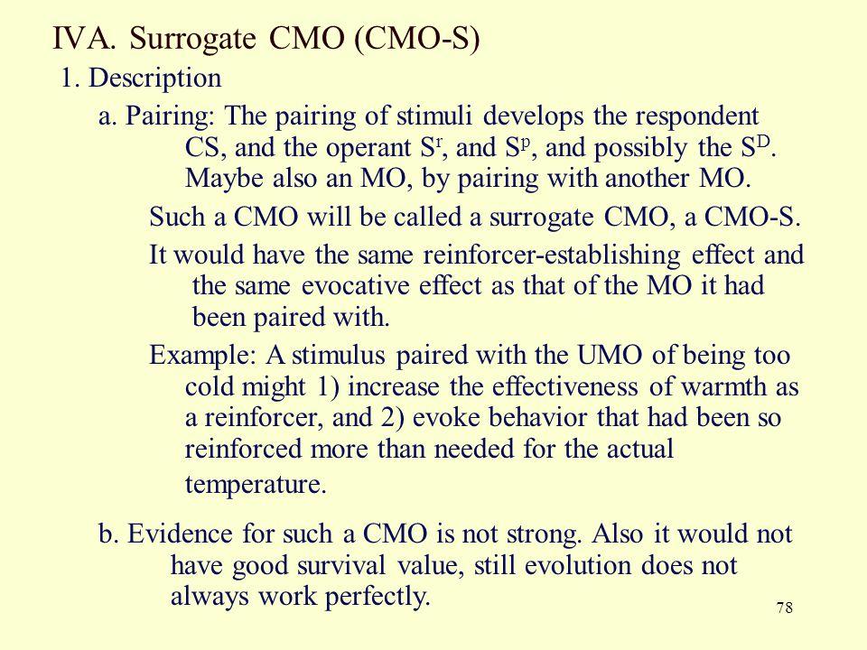IVA. Surrogate CMO (CMO-S)