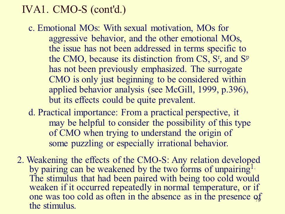 IVA1. CMO-S (cont d.)