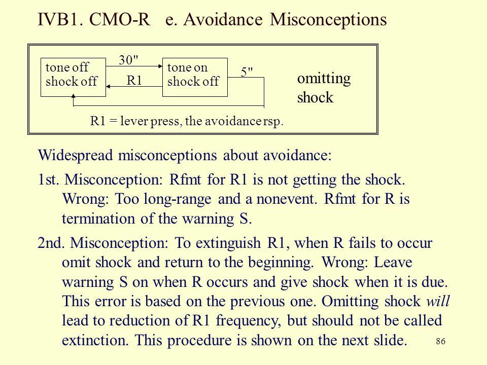IVB1. CMO-R e. Avoidance Misconceptions