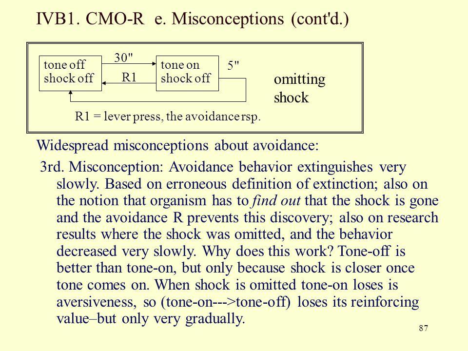 IVB1. CMO-R e. Misconceptions (cont d.)