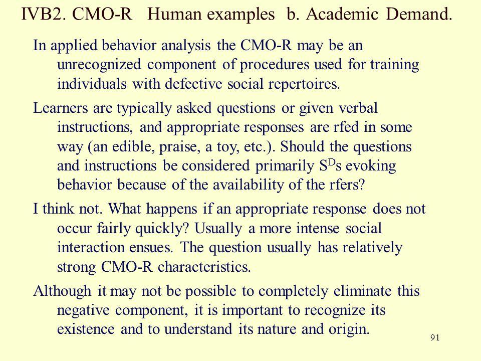 CMO R Human Examples B. Academic Demand.