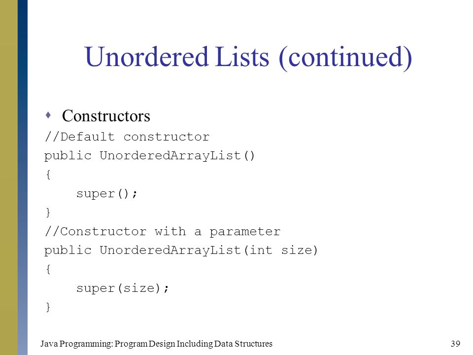 Unordered Lists (continued)