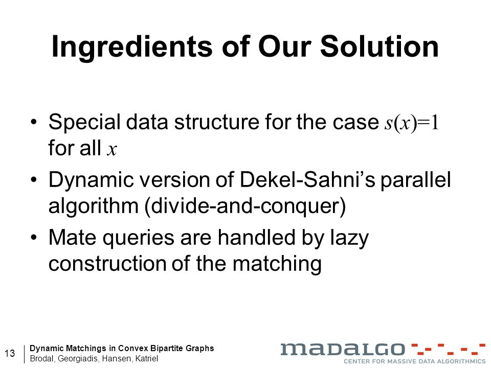 Ingredients of Our Solution
