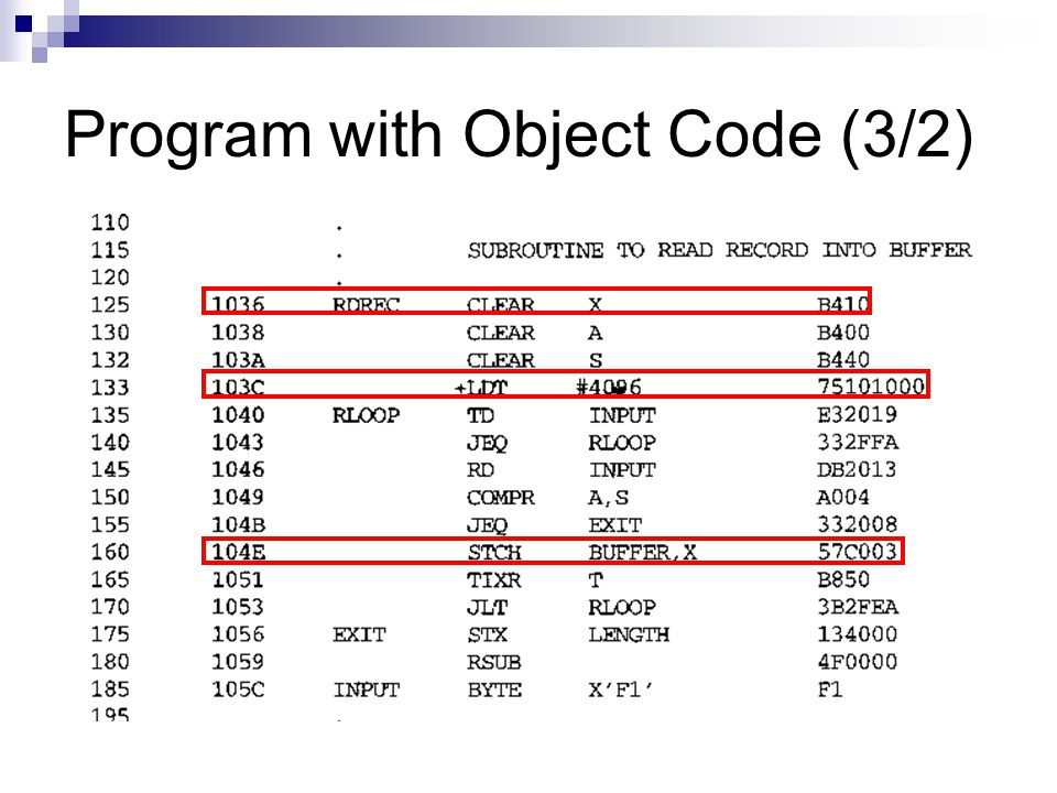Program with Object Code (3/2)