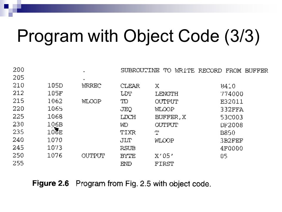 Program with Object Code (3/3)
