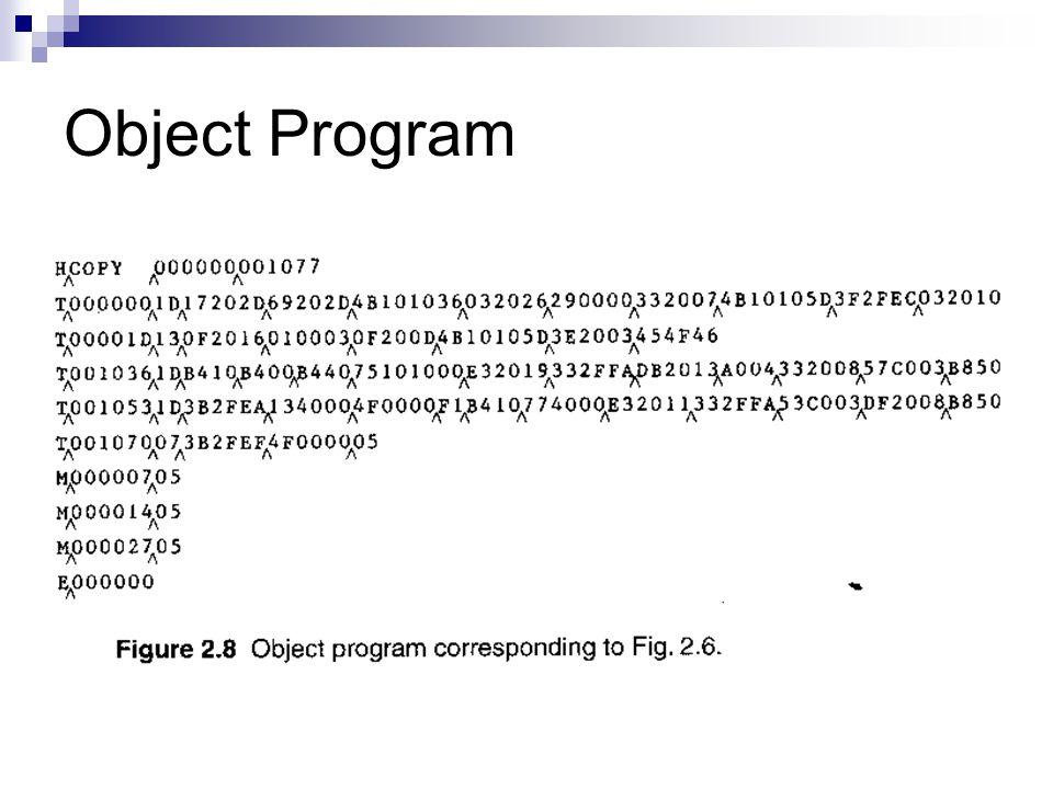 Object Program