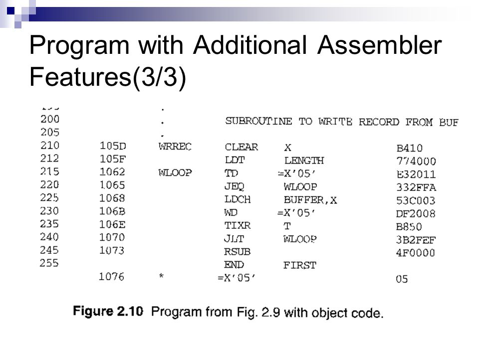 Program with Additional Assembler Features(3/3)