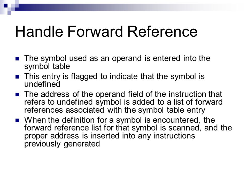 Handle Forward Reference
