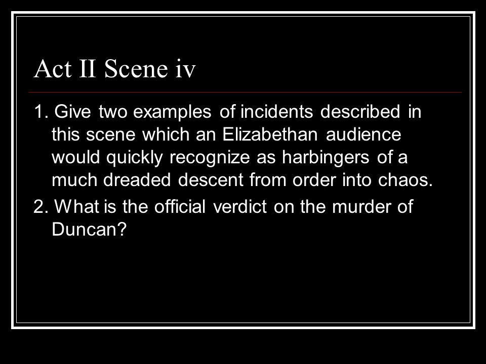 Act II Scene iv