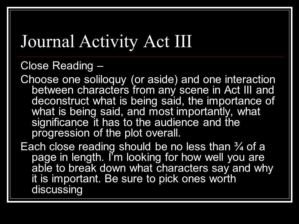 Journal Activity Act III