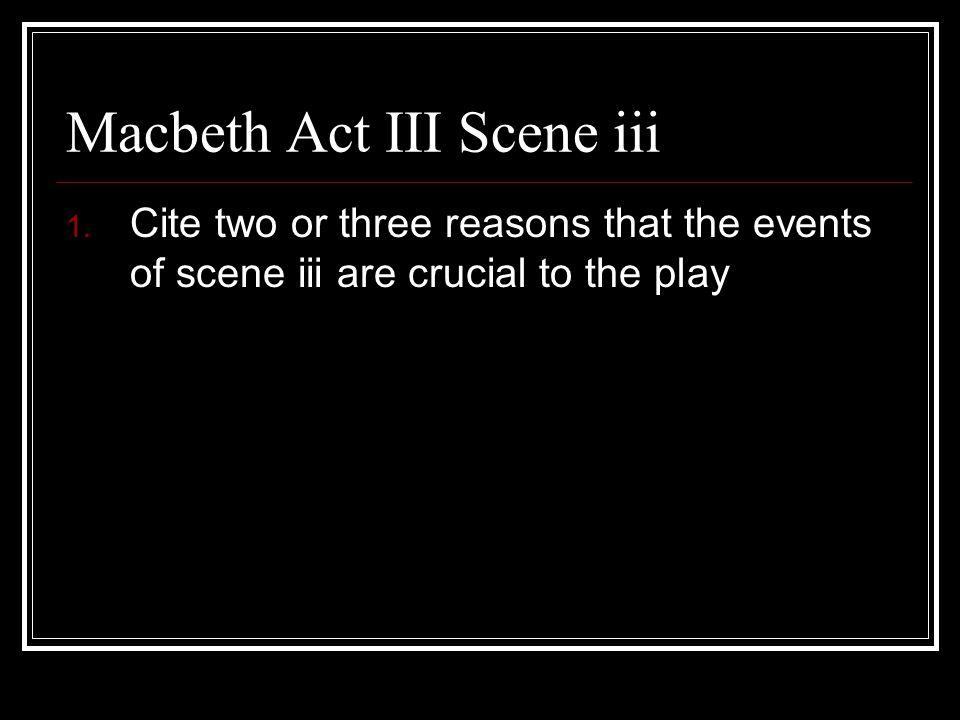 Macbeth Act III Scene iii