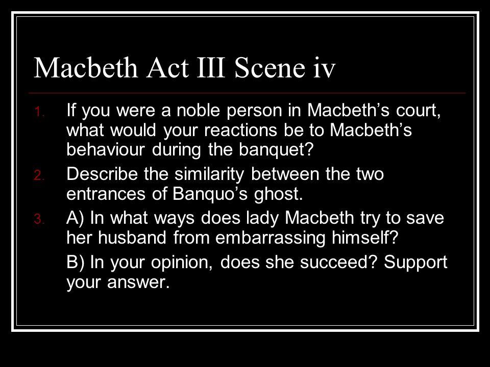 Macbeth Act III Scene iv