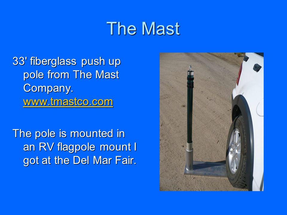 The Mast 33 fiberglass push up pole from The Mast Company.