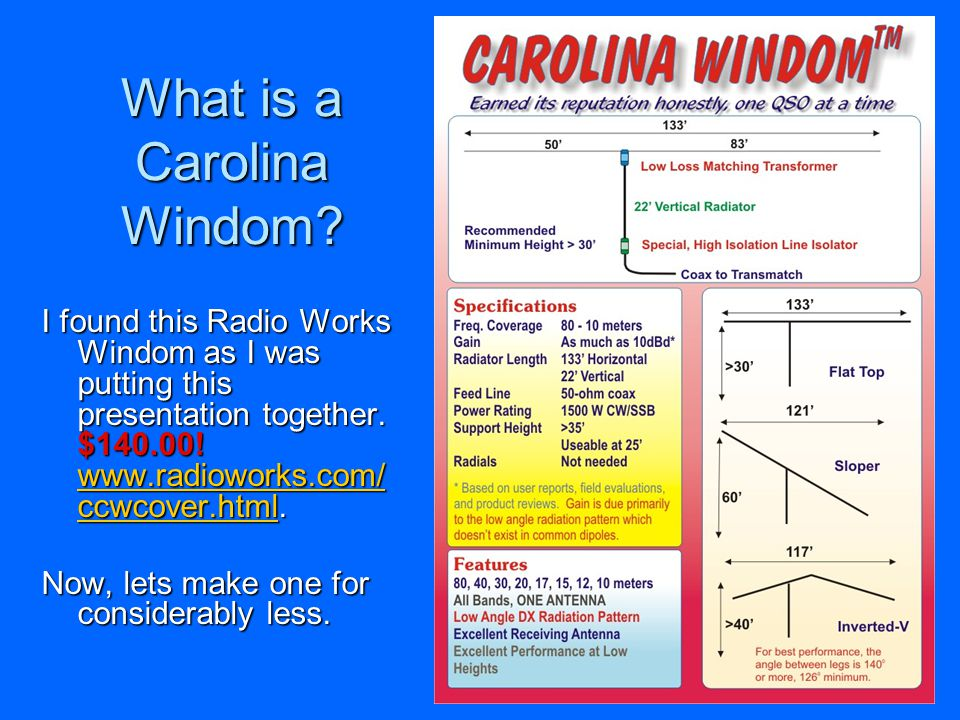 What is a Carolina Windom