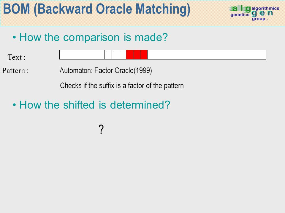BOM (Backward Oracle Matching)