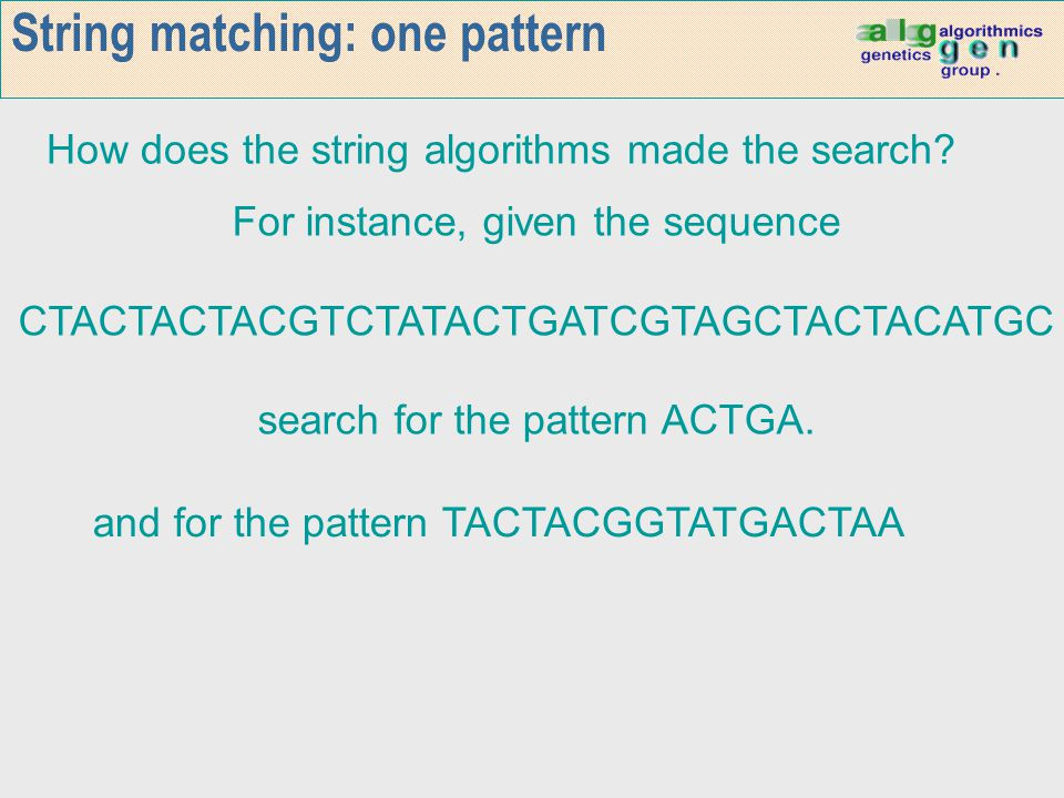 String matching: one pattern
