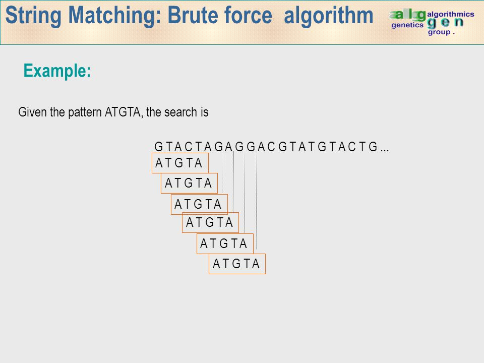 String Matching: Brute force algorithm